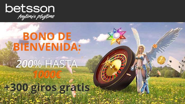 Betsson es | Bono gratis – Hasta 1000€ - 300 giros gratis – Aquí