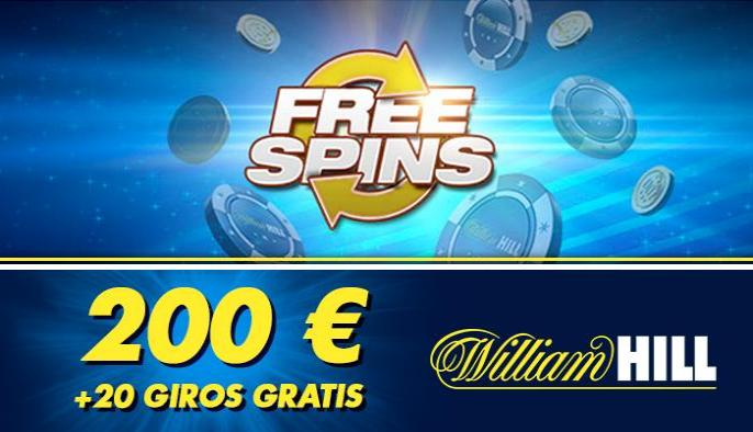 Giros gratis, la nueva promoción de William Hill Casino